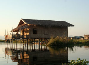 House on stilts at Inle Lake