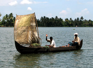 Meeting the locals in the Kerala backwaters