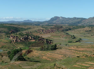 Scenic countryside on the way to Antsirabe