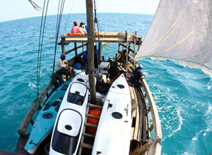Sailing in the dhow