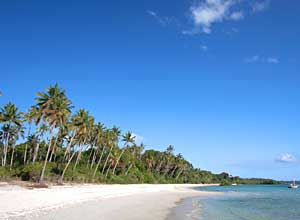 Unspoilt beach in Pemba