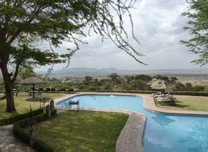 The pool at Serengeti Sopa Lodge