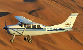Scenic flight along the Skeleton Coast