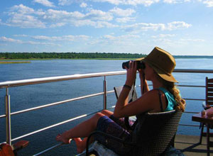 Wildlife watching from the Pride of the Zambezi