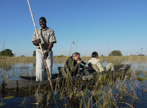 Enjoy a mokoro ride in the Okavango Delta