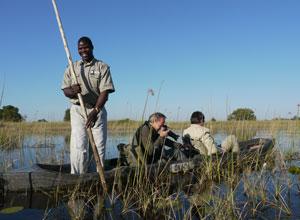 Enjoy a mokoro ride on the waterways