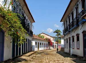 Typical street in Paraty