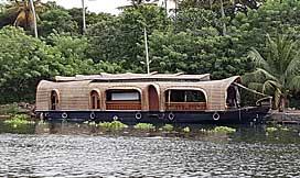 house boat, Malabar, India
