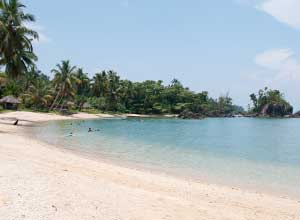 Sainte Marie beach scene