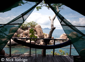 Relax in your hammock at Mumbo Island Camp
