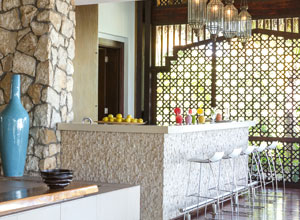 The juice bar at Anantara Bazaruto spa