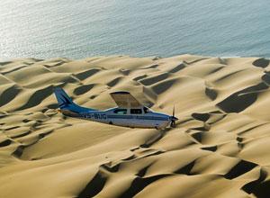 Scenic flight along the coast