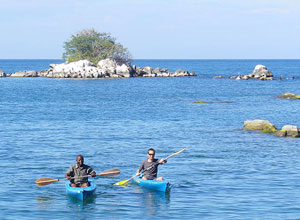 Kayaking at Bue Zebra Island Lodge