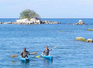 Kayaking at Bue Zebra Island Lodge